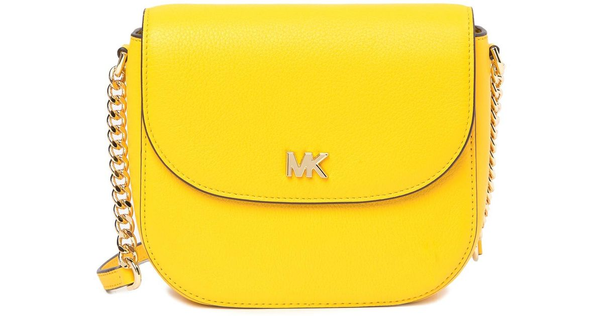 2a51cc9e9 MICHAEL Michael Kors Mott Half Dome Leather Crossbody Bag in Blue - Lyst