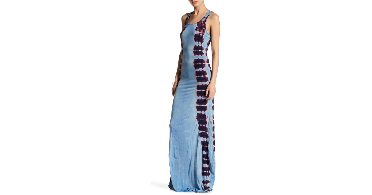 36df09424c Lyst - Go Couture Print Maxi Dress in Blue