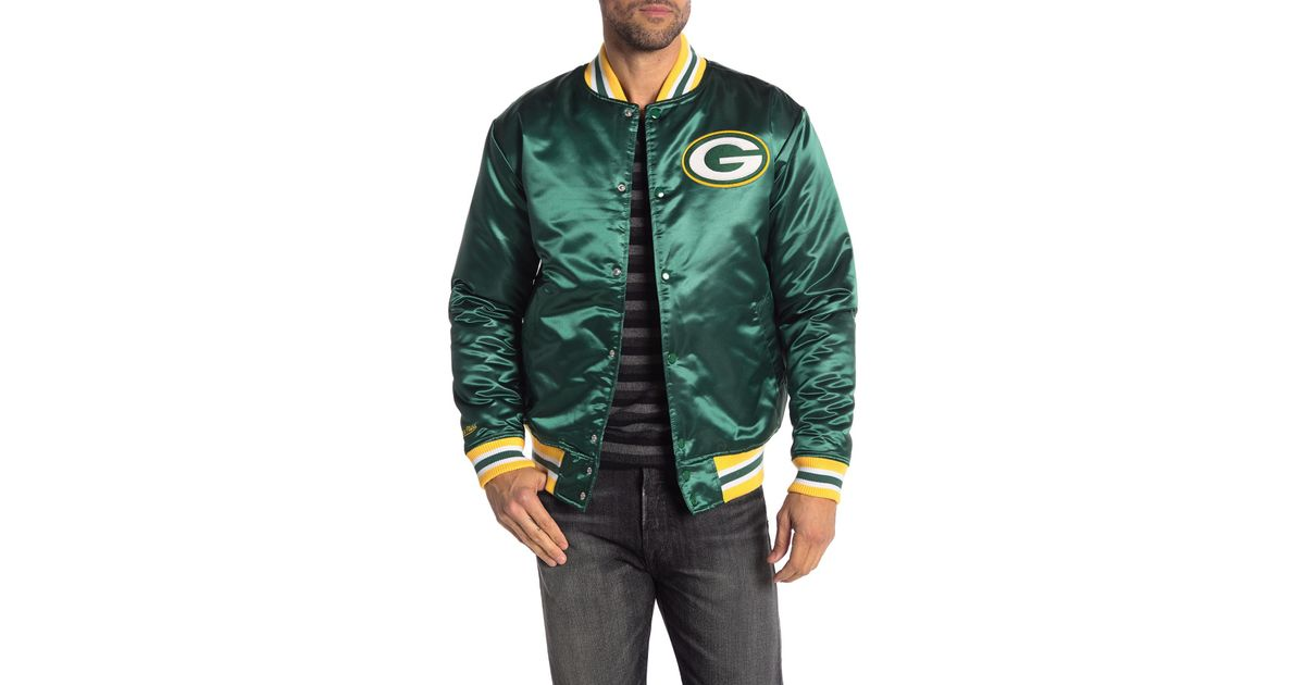 official photos f7b82 e2a69 Mitchell & Ness Nfl Green Bay Packers Satin Jacket for men
