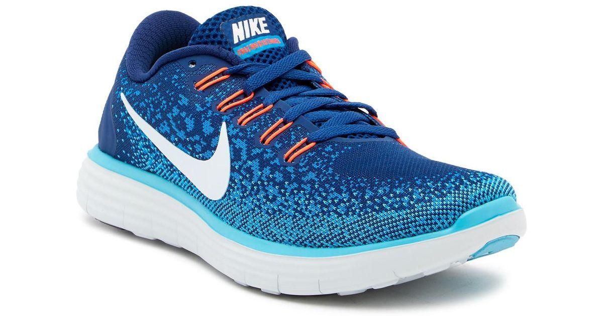 fbd62b164ed ... Lyst - Nike Free Run Distance Sneaker in Blue ...