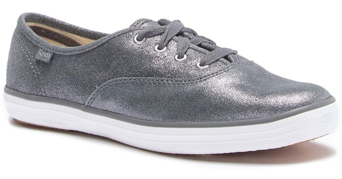 a84e2e1427c12 Lyst - Keds Champion Glitter Suede Sneaker in Gray