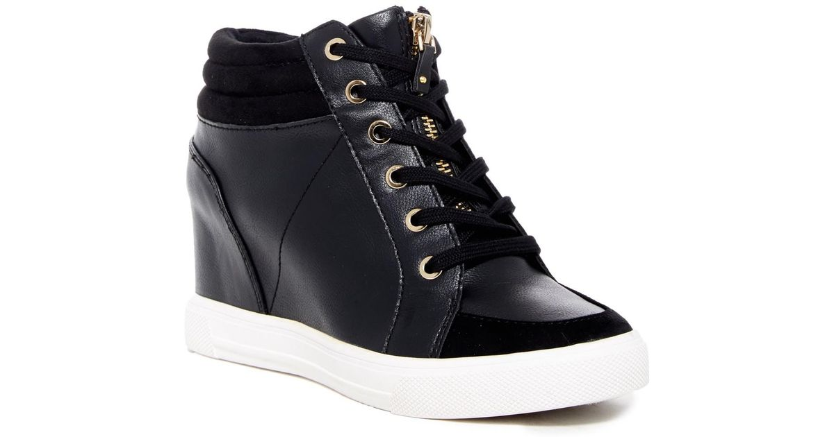Lyst - ALDO Etirevia Wedge Sneaker in Black