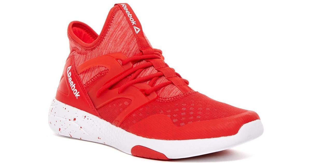 Lyst - Reebok Women s Hayasu Running Shoe in Red 7fdd87182