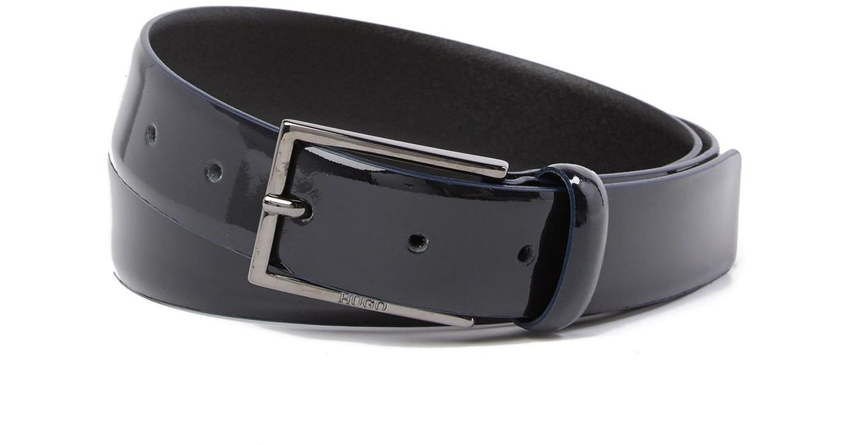 HUGO BOSS Mens C-Elloy Embossed Leather Belt  New w//Tags MSRP $75