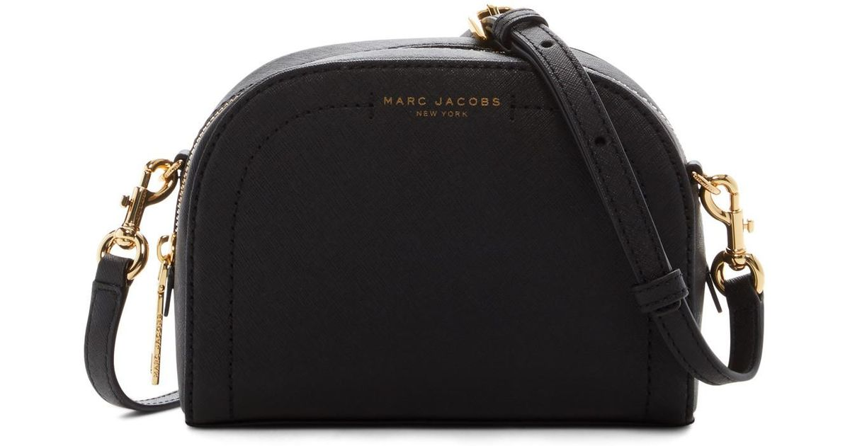54f6216d2d39 Lyst - Marc Jacobs Playback Leather Crossbody Bag in Black