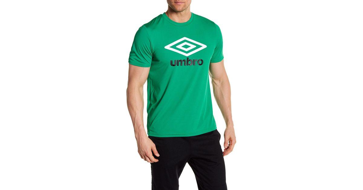 dfbd2ecd9f Lyst - Umbro Short Sleeve Front Graphic Logo Print Tee in Green for Men