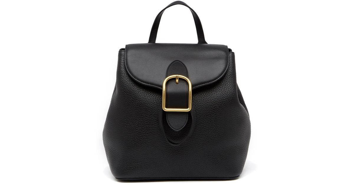 6a8f0f23fee48 Anne Klein Catherine Leather Backpack in Black - Lyst