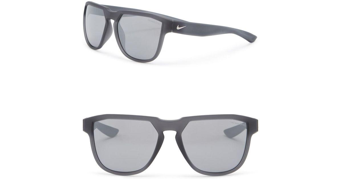5c77ef9d05 Lyst - Nike Fly Swift 57mm Square Sunglasses in Gray for Men