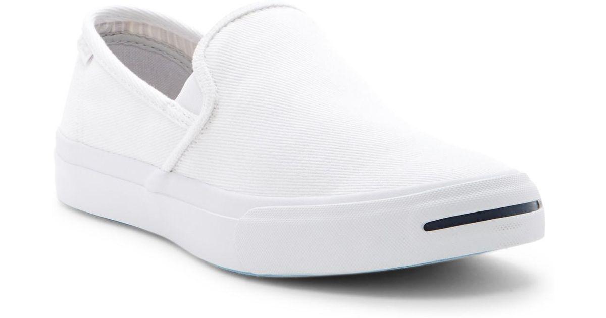 6bff07544ecd Lyst - Converse Jack Purcell Ii Slip-on Sneaker (unisex) in White