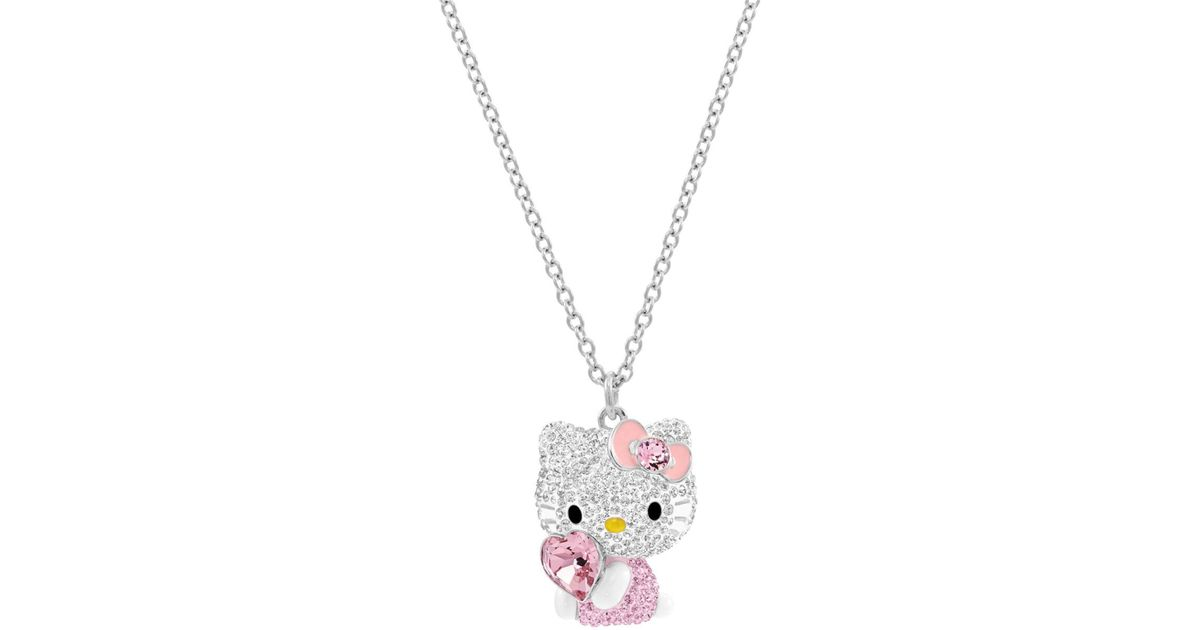Buckle-Down Suspenders-Hello Kitty W//dots /& Hearts Baby Pink//White//pin