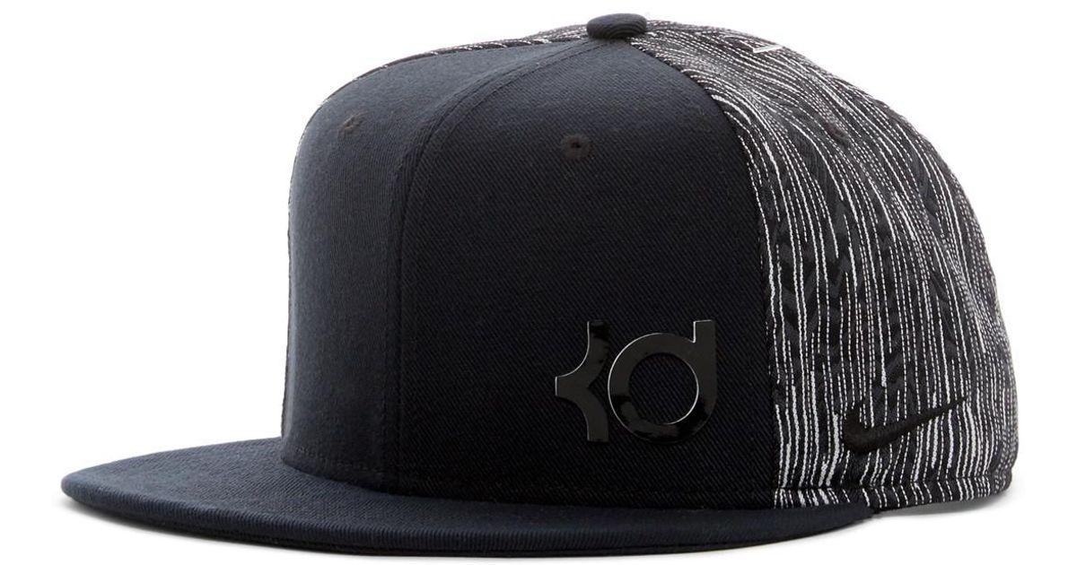 Lyst - Nike Kd Printed Strap Back Cap in Black for Men