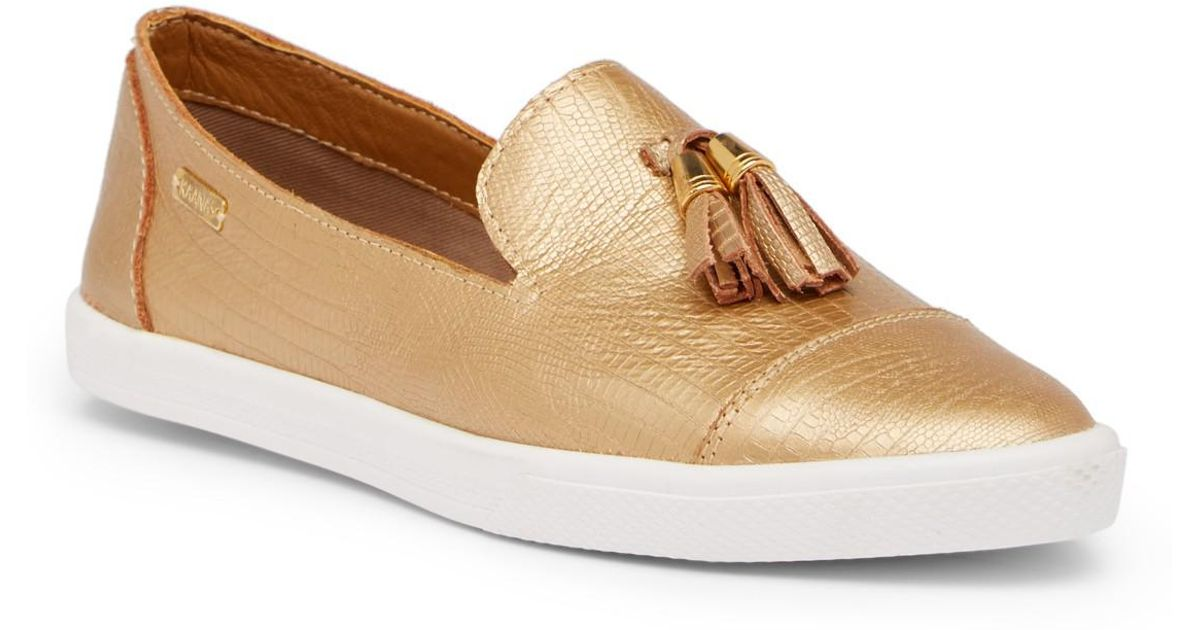Kaanas Ghana Lizard Embossed Tassel Loafer