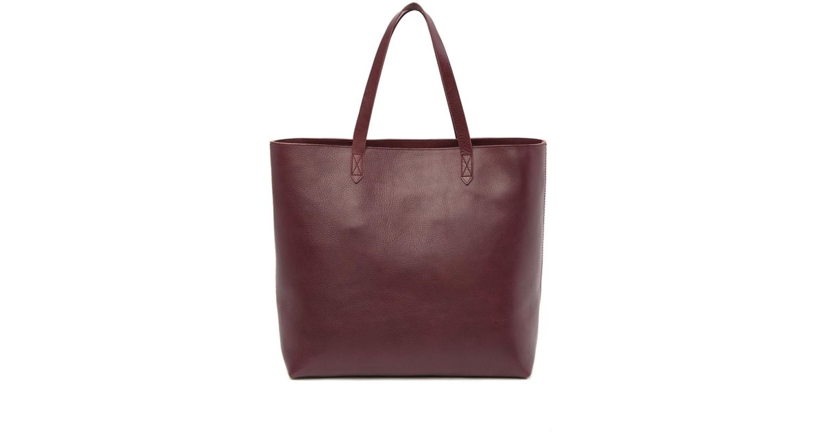 a7c6f6d30 Madewell The Zip-top Leather Transport Tote - Lyst