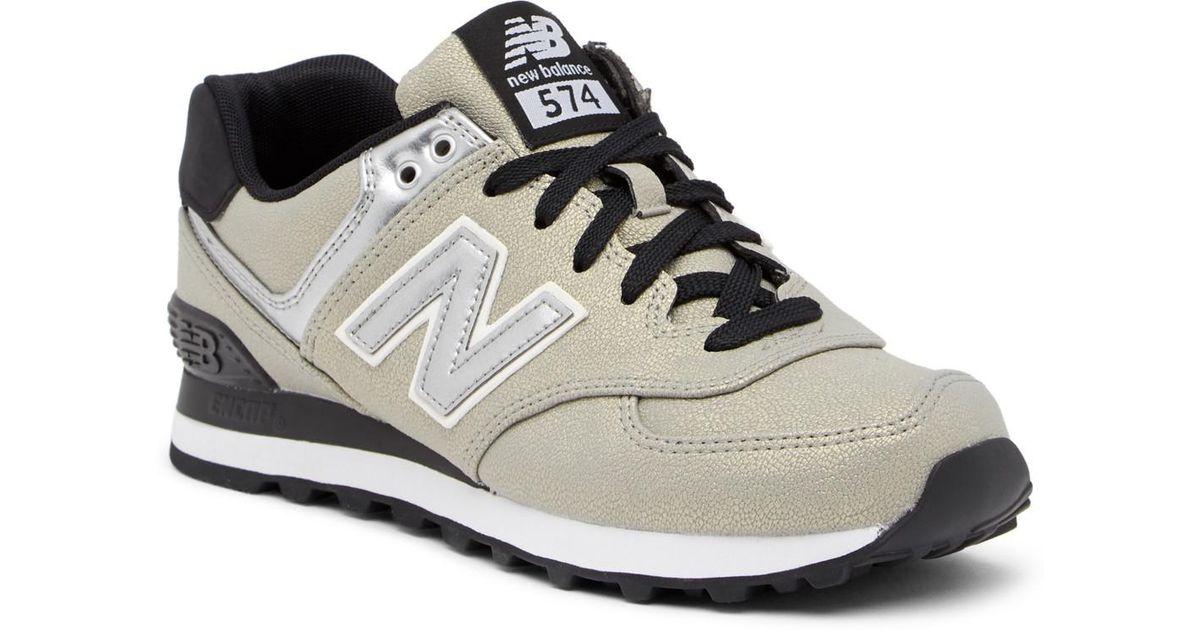 932fecd349b Lyst - New Balance 574 Seasonal Shimmer Suede Sneaker - Wide Width Available