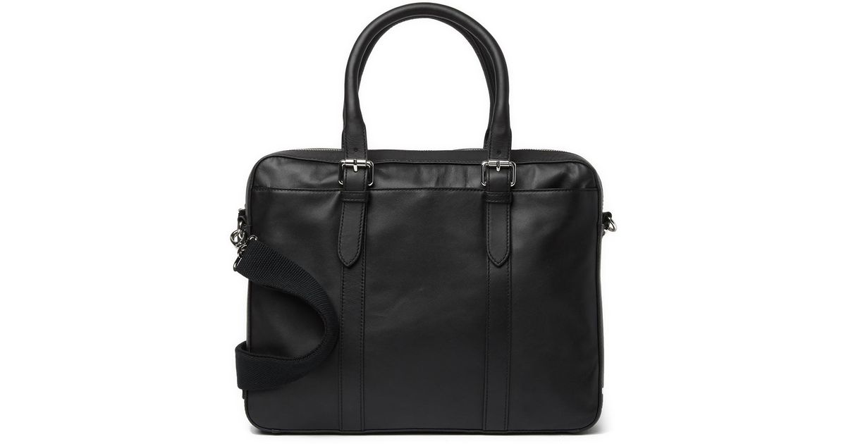 7897c7e5d3 Cole Haan Smooth Leather Attache Case in Black for Men - Lyst