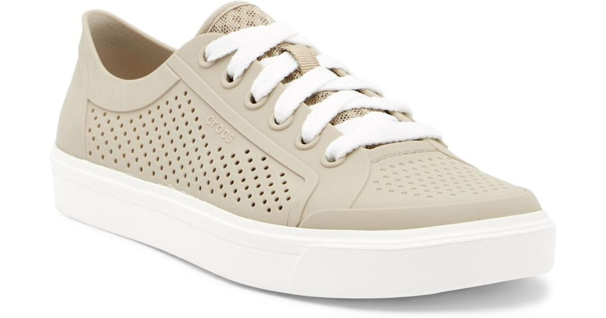 Crocs™ Perforated Lace-up Sneaker - Lyst