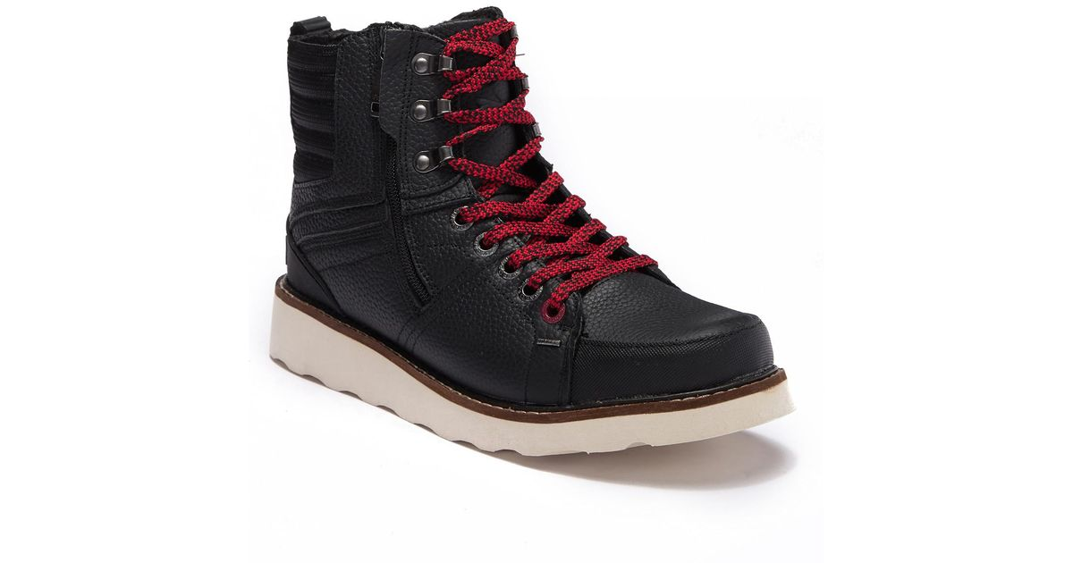 08142a19e9a Lyst - Pajar Reigh Leather   Faux Wool Hi-top Boot in Black for Men