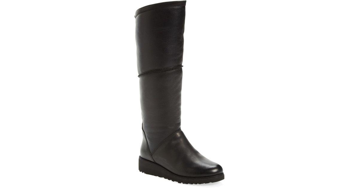 89ffa34e466 UGG Kendi Genuine Shearling Lined Boot in Black - Lyst