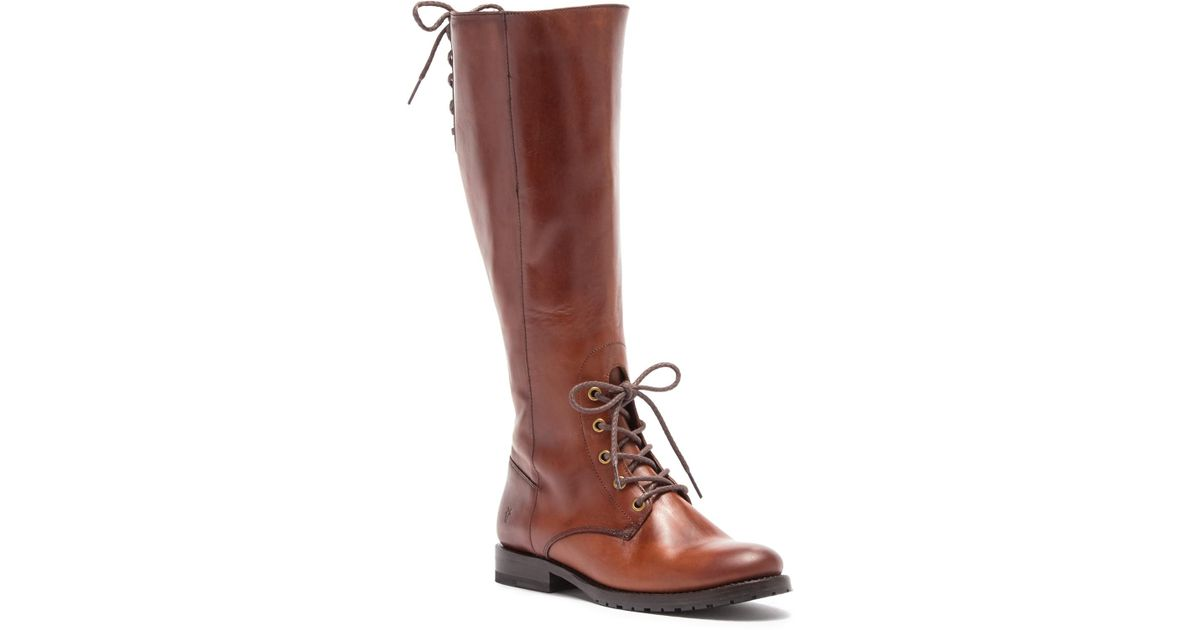 ae12c81ce20 Frye Brown Natalie Combat Knee High Boot
