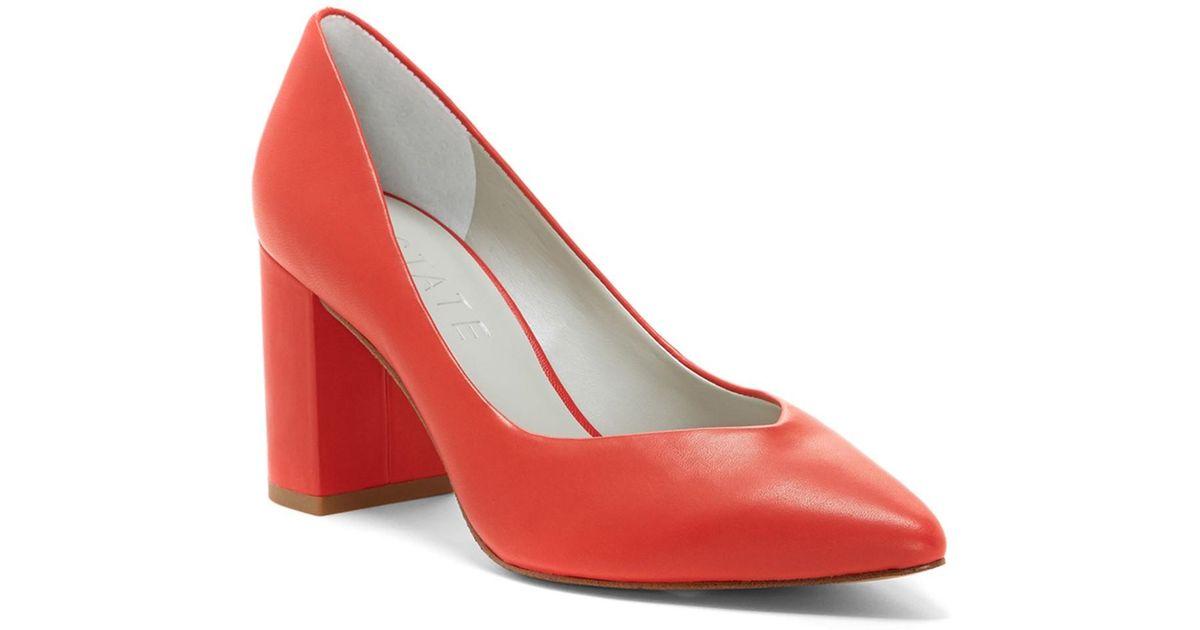 eca89b1a98e1 Lyst - 1.STATE Saffy Block Heel Pump (women) in Red