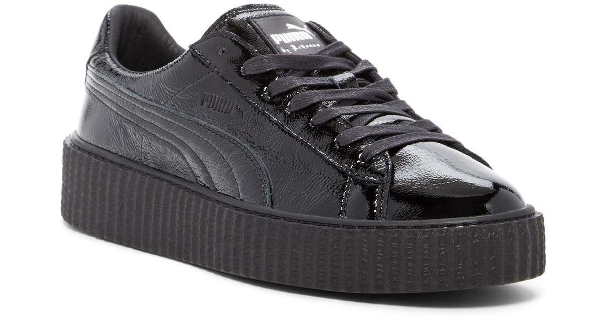 size 40 4da52 8c9be PUMA Black Fenty By Rihanna Cracked Leather Creeper Sneaker (unisex) for men