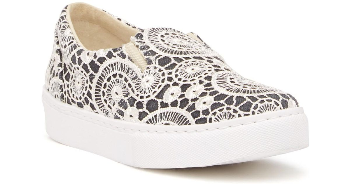 238dbe4bb Lyst - Chiara Ferragni Crochet Lace Slip-on Sneaker in White