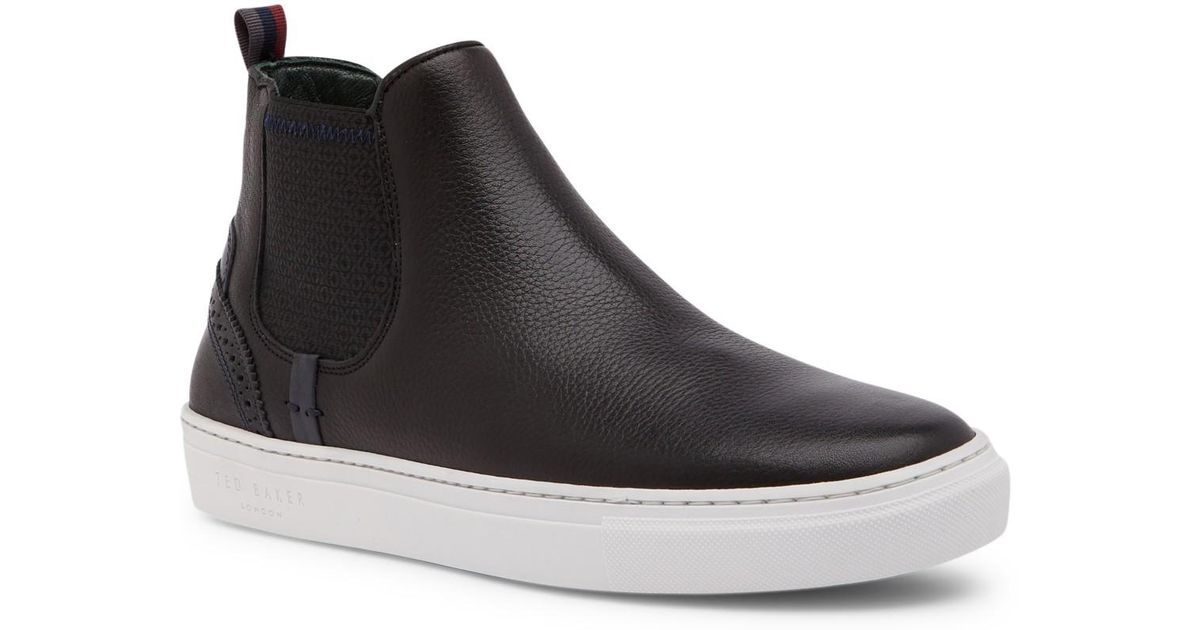 3429f96eab8a16 Lyst - Ted Baker Lykeen Leather High Top Sneaker in Black for Men