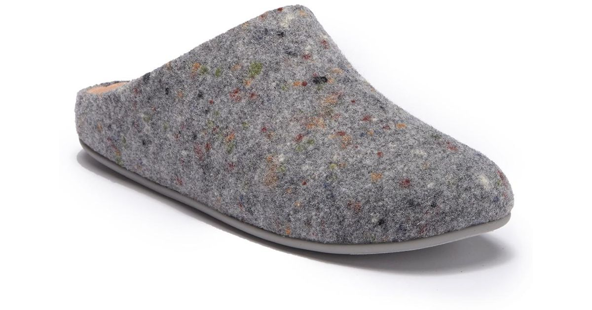 6dffc4bbad45 Lyst - Fitflop Chrissie Speckle Felt Slippers in Gray