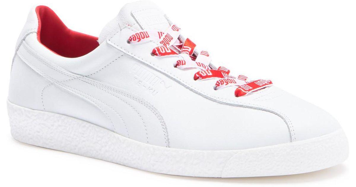 PUMA White Te ku Russia Fm Leather Sneaker for men