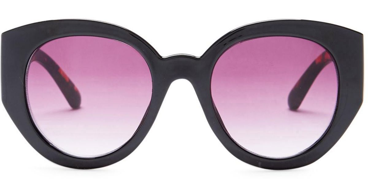 a42aecc626f85 Lyst - Betsey Johnson 63mm Cat Eye Sunglasses