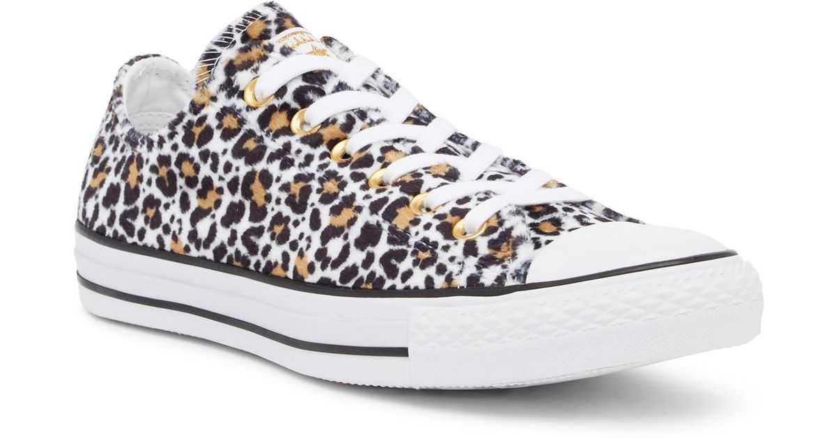 4ed0468692c4 Lyst - Converse Chuck Taylor All Star Low Top Faux Fur Animal Print Sneaker  (unisex) in White for Men