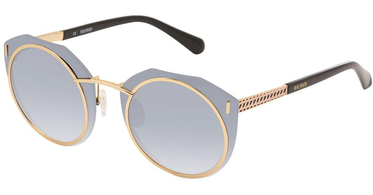 Lyst - Balmain Round 61mm Metal Frame Sunglasses in Black