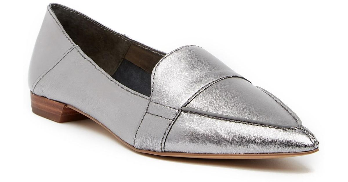 eb01a216a2b Lyst - Vince Camuto Maita Pointed Toe Leather Loafer