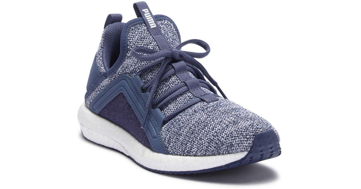 PUMA Mega Energy Knit Sneaker in Blue