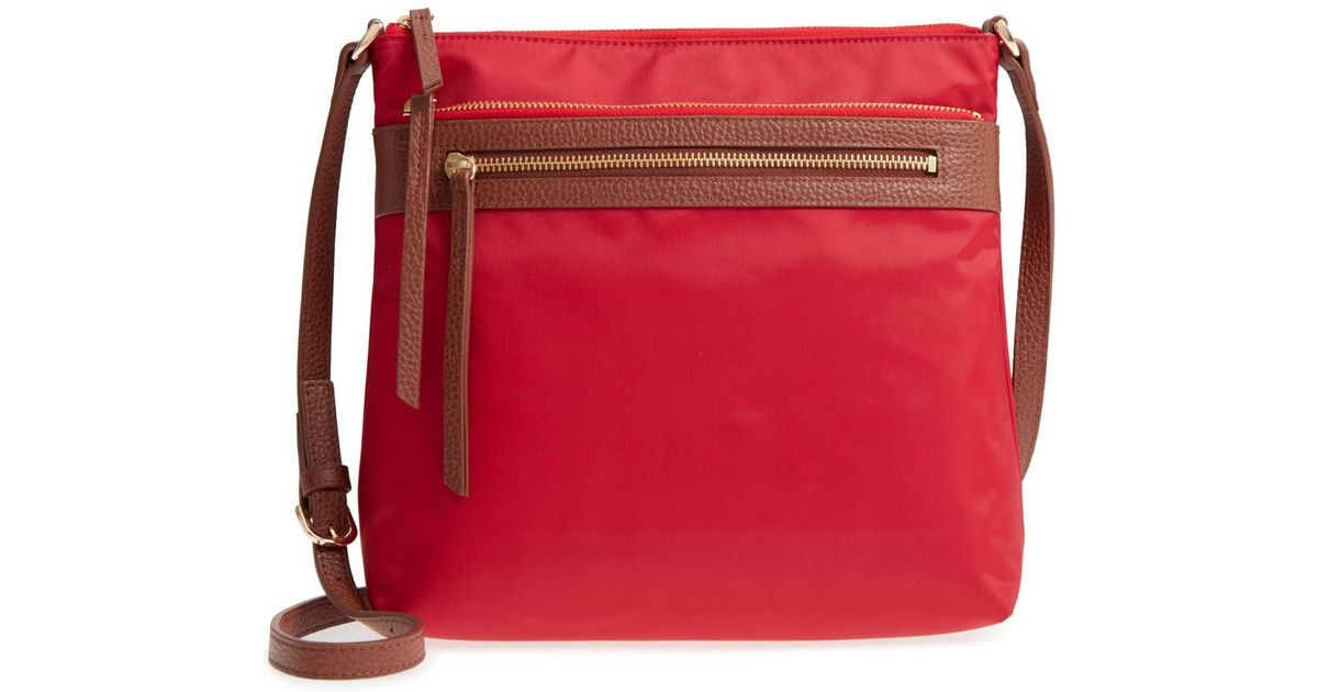 f2ac7a261cad Lyst - Nordstrom Kaison Nylon Crossbody Bag in Red