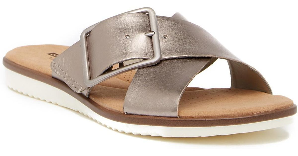 560722559 Lyst - Clarks Kele Heather Leather Sandal