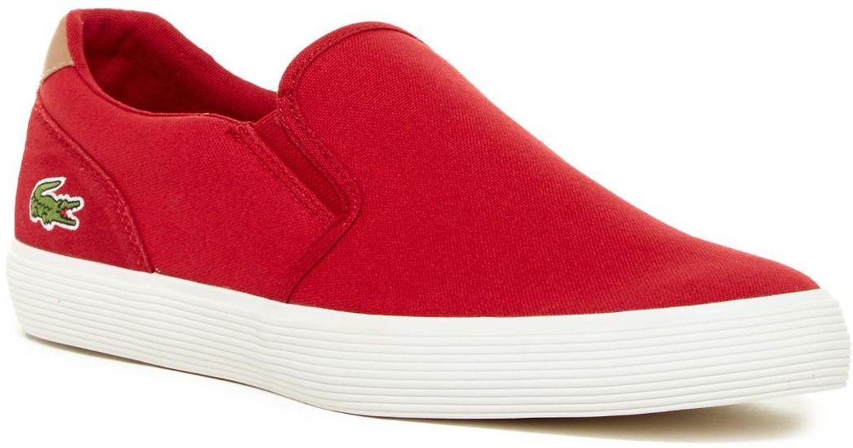 Lacoste Canvas Jouer Slip-on Sneaker in