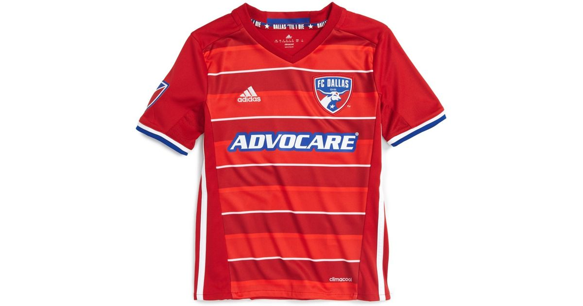 big sale 1cac2 fdbf5 Adidas Originals - Red 'fc Dallas' Climacool(r) Primary Soccer Jersey (big  Boys) for Men - Lyst