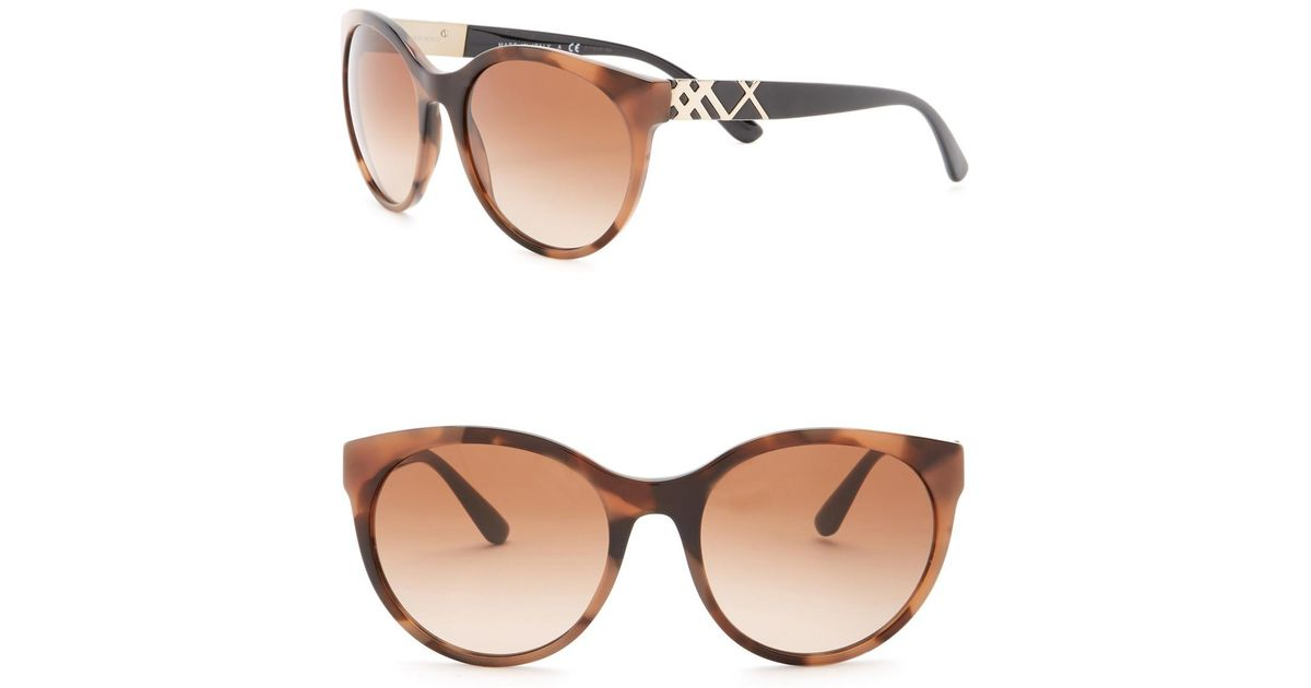 1ba09247bbbe Lyst - Burberry 56mm Retro Sunglasses in Brown