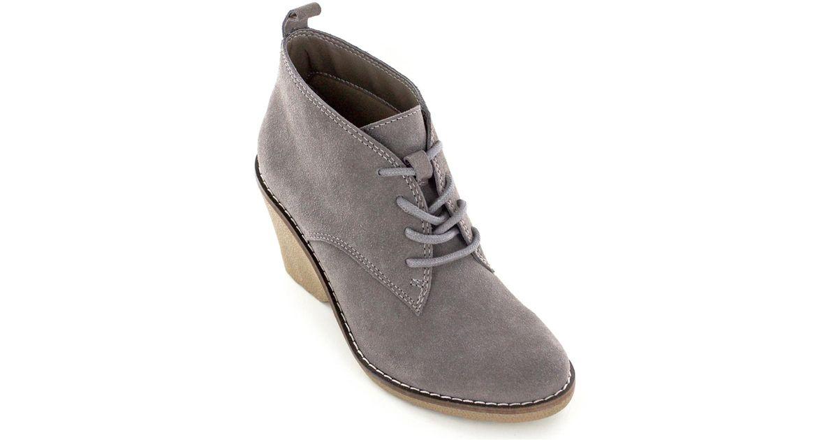 666a470f0fa4 Lyst - White Mountain Footwear Lambert Suede Bootie in Gray