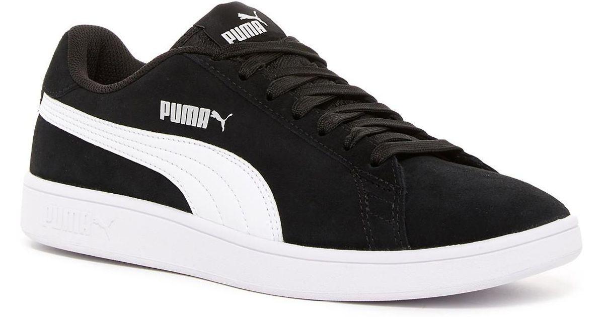 the best attitude 17af7 e5e19 PUMA Black Smash V2 Suede Sneaker for men