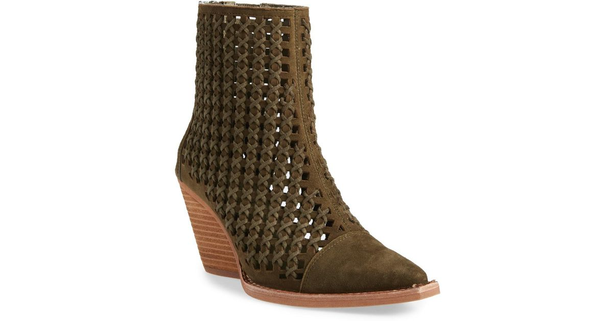 436980cbfe9da Jeffrey Campbell - Multicolor Oakwood Perforated Bootie (women) - Lyst