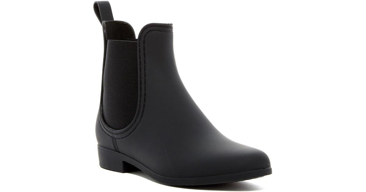 045ae214225 Lyst - Jeffrey Campbell Forecast Chelsea Waterproof Rain Boot in Black