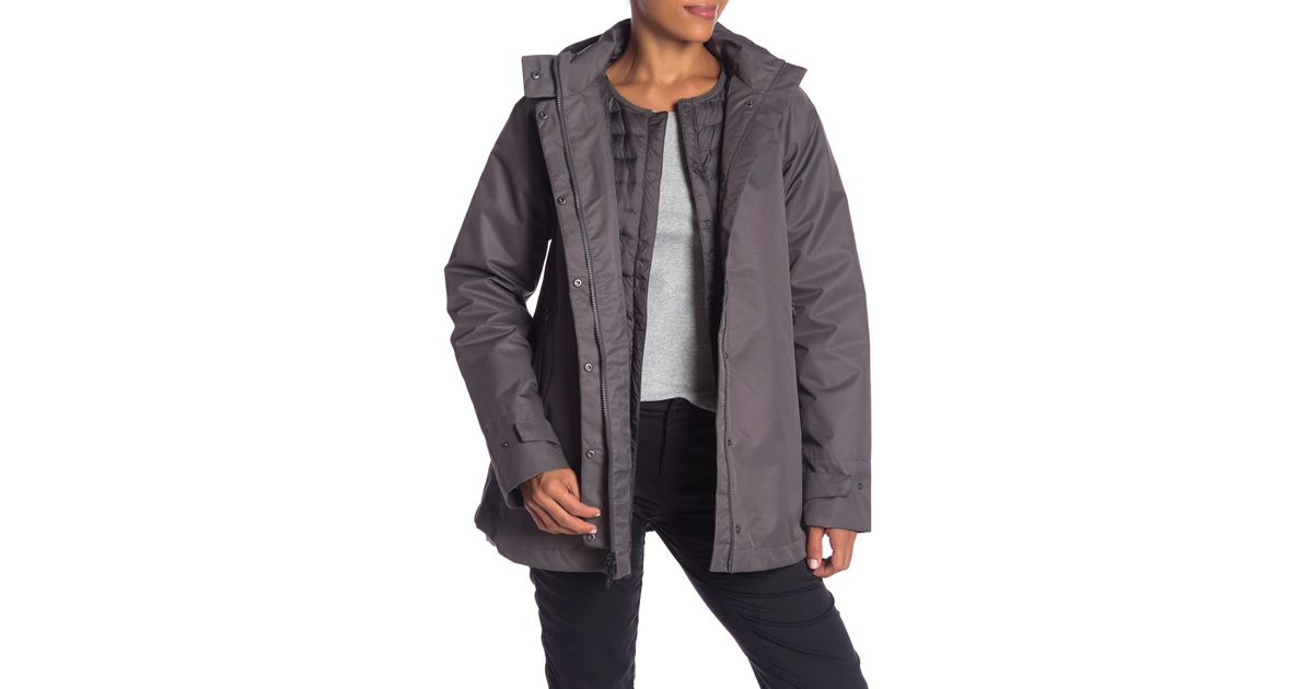 9ee286974 The North Face Gray Mosswood Triclimate Waterproof Power Down 3-in-1 Jacket