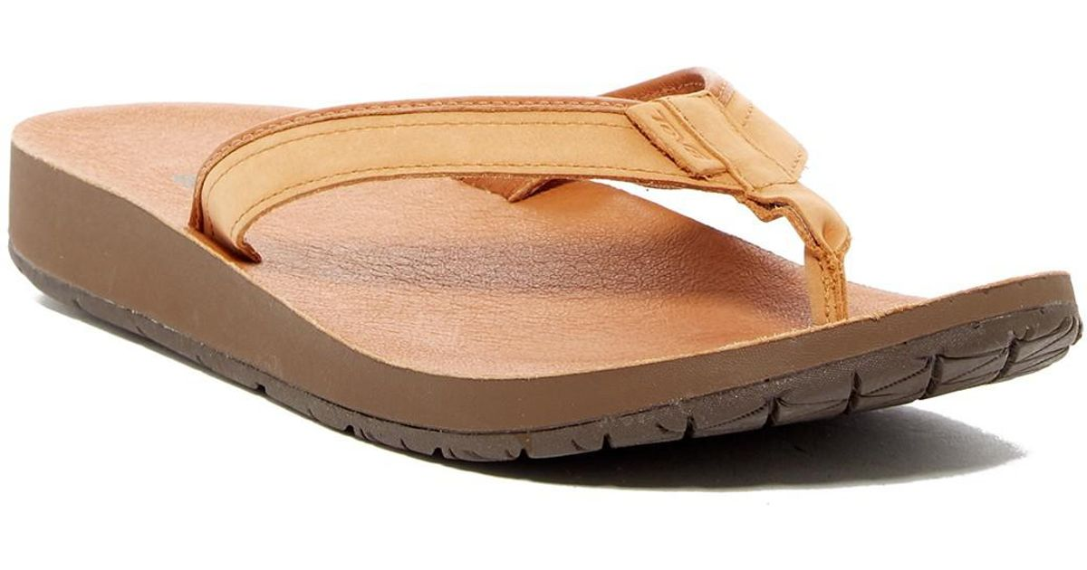 59885de10d9e Lyst - Teva Azure Leather Flip Flop (women) in Brown