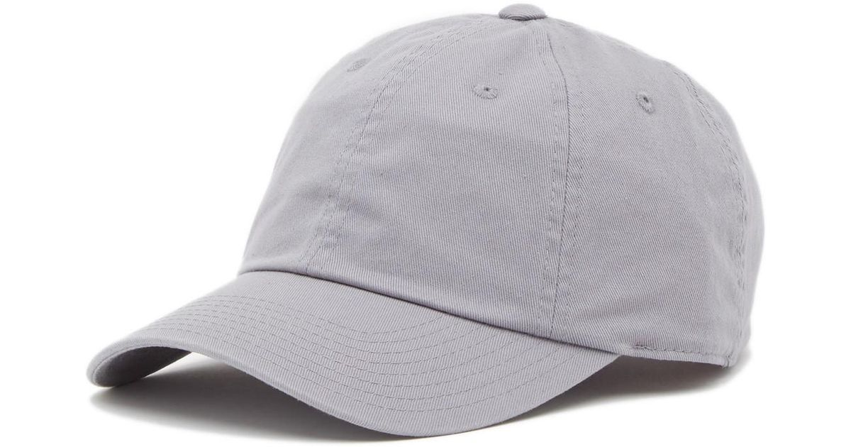 1d4a509a49b2b1 American Needle Washed Slouch Baseball Cap in Gray for Men - Lyst