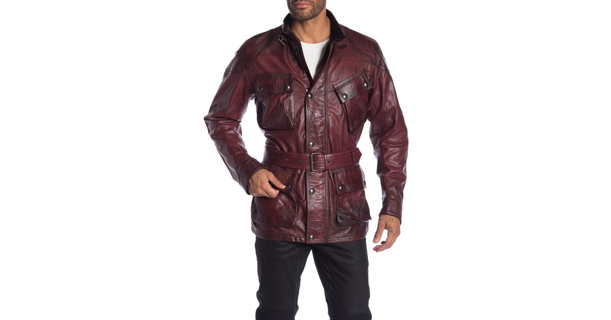 a15571e35 Belstaff Red Panther Leather Jacket for men