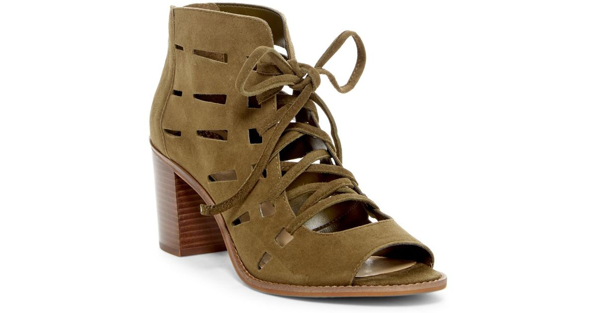 5c03fc56eca Lyst - Vince Camuto Tressa Perforated Lace-up Sandal
