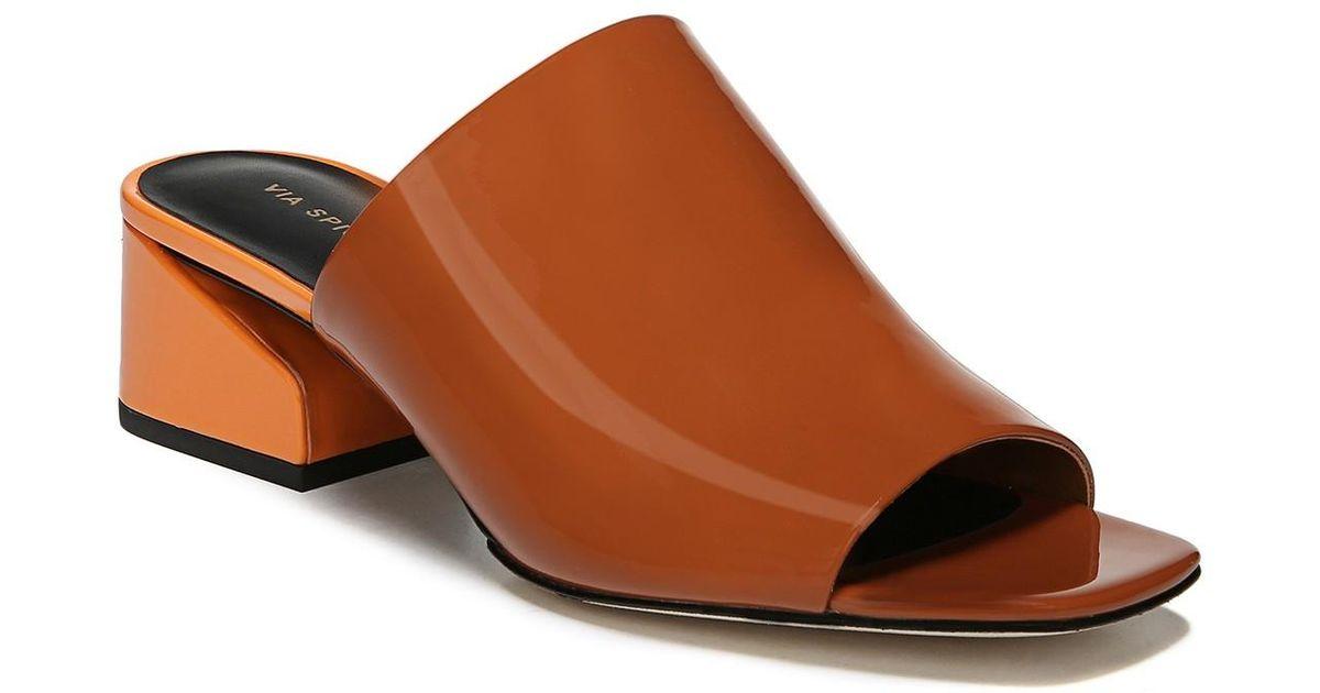 Via Spiga Leather Porter Block Heel