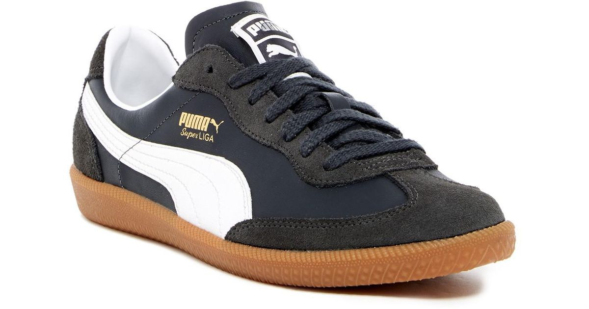 select for authentic release info on clearance prices PUMA Blue Super Liga Og Retro Leather Sneaker for men